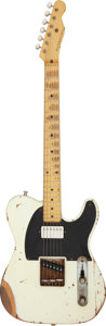 Musical Instruments:Electric Guitars, 2014 Nash Guitars TK 54 White Solid Body Electric Guitar, Serial #IND888RC.. ...