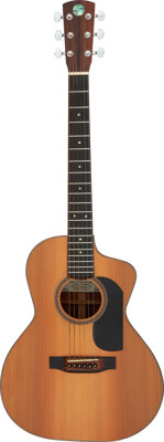 Steve Patience Fat Boy Cutaway Natural Acoustic Guitar, Serial #0108060