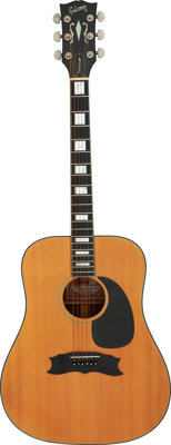 Circa 1970 Gibson Heritage Custom Natural Acoustic Guitar, Serial #A001118
