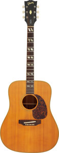 Musical Instruments:Acoustic Guitars, Circa 1970 Gibson SJN Natural Acoustic Guitar, Serial #613460.. ...