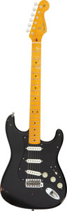 Musical Instruments:Electric Guitars, 2015 Fender David Gilmour Stratocaster Relic Black Solid Body Electric Guitar, Serial #R79752.. ...