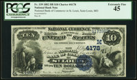 Saint Louis, MO - $10 1882 Date Back Fr. 539 The National Bank of Commerce Ch. # (M)4178 PCGS Extremely Fine 45