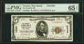 National Bank Notes:New Jersey, Trenton, NJ - $5 1929 Ty. 1 The Security National Bank Ch. # 13039 PMG Gem Uncirculated 65 EPQ.. ...