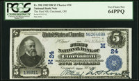 Cincinnati, OH - $5 1902 Date Back Fr. 590 The First National Bank Ch. # (M)24 PCGS Very Choice New 64P