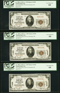 Iron Mountain, MI - $20 1929 Ty. 1 The United States National Bank Ch. # 11929, Cut Sheet of Six PCGS V... (Total: 6)
