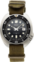 "Timepieces:Wristwatch, Seiko Ref. 6105 8009 Steel Diver's Watch, ""Water 150m Resist"" Dial, circa 1970's. ..."