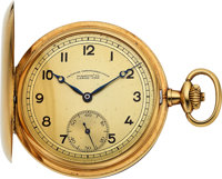 A. Lange & Söhne OLIW High Grade 14k Gold Pocket Watch, circa 1920's