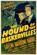 "Movie Posters:Mystery, The Hound of the Baskervilles (20th Century Fox, 1939). Very Fine- on Paper. One Sheet (27.5"" X 41"").. ..."