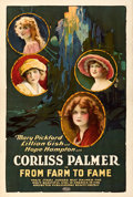 Movie Posters:Drama, From Farm to Fame (United Artists, 1922). Fine+ on Linen.