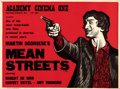 "Movie Posters:Crime, Mean Streets (Warner Bros., 1973). Rolled, Fine+. British Quad (30"" X 40""). Peter Strausfeld Artwork.. ..."