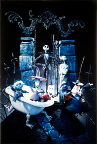 """The Nightmare Before Christmas (Touchstone, 1993). Very Fine. Barrier Strip (Lenticular Type 3-D) One Sheet (27"""" X..."""