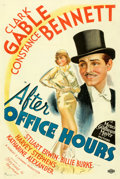 "Movie Posters:Drama, After Office Hours (MGM, 1935). Very Fine on Linen. One Sheet (27"" X 41"") Style D. From the Mike Kaplan Collection.. ..."
