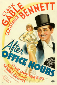 """After Office Hours (MGM, 1935). Very Fine on Linen. One Sheet (27"""" X 41"""") Style D. From the Mike Kaplan Collec..."""