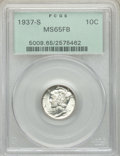 1937-S 10C MS65 Full Bands PCGS. PCGS Population: (410/452). NGC Census: (97/174). CDN: $120 Whsle. Bid for NGC/PCGS MS6...