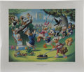 Original Comic Art:Miscellaneous, Carl Barks - Holiday in Duckburg, Regular Edition Lithograph,numbered 4/345 (Another Rainbow, 1989). . ...