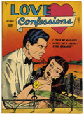 Golden Age (1938-1955):Romance, Love Confessions #1 (Quality, 1949) Condition: VG....