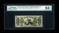 Fractional Currency:Third Issue, Fr. 1360 50c Third Issue Justice PMG Choice Uncirculated 64 EPQ....