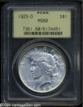 Peace Dollars: , 1923-D MS60 PCGS. The current Coin Dealer Newsletter (...
