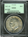 Eisenhower Dollars: , 1971-S Silver MS66 PCGS. ...