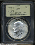 Eisenhower Dollars: , 1972-S Silver MS65 PCGS. ...