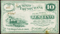 Cuyahoga Falls, OH- W. A. Hanford at Summit County Bank 10¢ 1862 Remainder Choice About Uncirculated