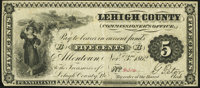 Allentown, PA- Lehigh County Commissioner's Office 5¢ Nov. 3, 1862 Very Fine