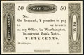 Obsoletes By State:Ohio, Worthington, OH- (Ezra Griswold) 50¢ 18__ Remainder Crisp Uncirculated.. ...