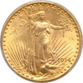 1914 $20 MS63 PCGS. CAC. The 1914 is a slightly better date in the Saint-Gaudens series when compared to the high-mintag...