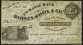 Obsoletes By State:Kentucky, Mt. Sterling, KY- Exchange Bank of Barnes, White & Co. 25¢ Feb. 1, 1863 Fine-Very Fine.. ...