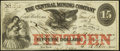 Obsoletes By State:Michigan, Eagle Harbor, MI- Central Mining Company $15 Mar. 30, 1863 Very Fine.. ...