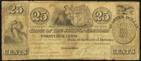 Tuscaloosa, AL- Bank of the State of Alabama 25¢ Aug, 18, 1842 Rosene 6-3 Very Good