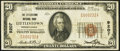 National Bank Notes:Pennsylvania, Littlestown, PA - $20 1929 Ty. 1 The Littlestown National Bank Ch. # 9207 Very Fine.. ...