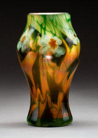 Tiffany Studios Favrile Glass Paperweight Vase, circa 1910 Marks: Louis C. Tiffany, U 5992 8 inches (20.3 cm)