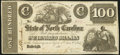 Raleigh, NC- State of North Carolina $100 circa 1861 Cr. 74 Very Fine-Extremely Fine
