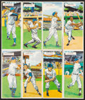 Baseball Cards:Sets, 1955 Topps Double Headers Complete Set (66) With Wrapper. ...