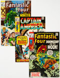 Bronze Age (1970-1979):Superhero, Fantastic Four and Captain America Group of 5 (Marvel, 1968-70) Condition: Average VF.... (Total: 5 Comic Books)