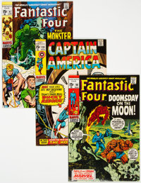 Fantastic Four and Captain America Group of 5 (Marvel, 1968-70) Condition: Average VF.... (Total: 5)