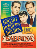 "Movie Posters:Romance, Sabrina (Paramount, 1954). Rolled, Fine+. Silk Screen Poster (30"" X 40"") Style Z.. ..."