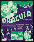 "Movie Posters:Horror, Dracula (Universal, 1931). Folded, Very Fine+. Herald (2.75"" X 7"" folded, 5.5"" X 7"" Open).. ..."