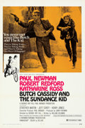 "Movie Posters:Western, Butch Cassidy and the Sundance Kid (20th Century Fox, 1969). Folded, Very Fine+. One Sheet (27"" X 41"") Style B. . ..."