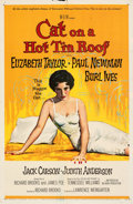 """Movie Posters:Drama, Cat on a Hot Tin Roof (MGM, 1958). Folded, Fine+. One Sheet (27"""" X 41""""). Reynold Brown Artwork.. ..."""
