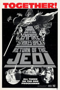 """Movie Posters:Science Fiction, The Star Wars Trilogy (20th Century Fox, R-1985). Folded, Very Fine+. Australian One Sheet (27"""" X 40"""").. ..."""