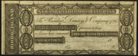 Newport, RI- New England Commercial Bank $100 18__ Remainder Extremely Fine-About Uncirculated