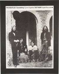 """The Beatles """"Something/Come Together"""" Apple Records Promo Poster in Mat (1969)"""
