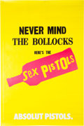 Music Memorabilia:Posters, Sex Pistols Never Mind the Bollocks Absolut Vodka Promo Poster (2002). ...
