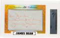 Movie/TV Memorabilia:Autographs and Signed Items, James Dean Signed and Inscribed Card Encased by 2017 Executive Leaf Collection Masterpiece. ...