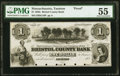 Obsoletes By State:Massachusetts, Taunton, MA- Bristol County Bank $1 185_ G10 Proof...