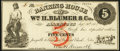 Obsoletes By State:Pennsylvania, Allentown, PA- Banking House of Wm. H. Blumer & Co. 5¢ Sep. 20, 1862 Very Fine-Extremely Fine.. ...