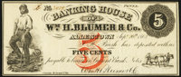 Allentown, PA- Banking House of Wm. H. Blumer & Co. 5¢ Sep. 20, 1862 Very Fine-Extremely Fine