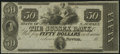 Obsoletes By State:New Jersey, Newton, NJ- Sussex Bank $50 18__ Remainder Choice Crisp Uncirculated.. ...